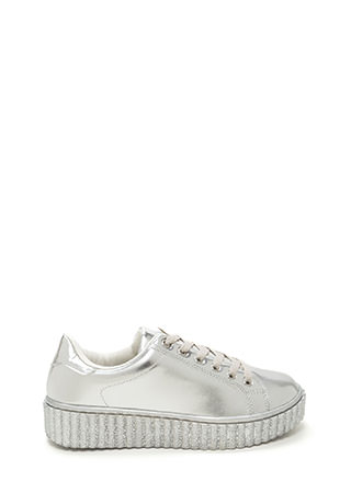 You Creeper Metallic Platform Sneakers