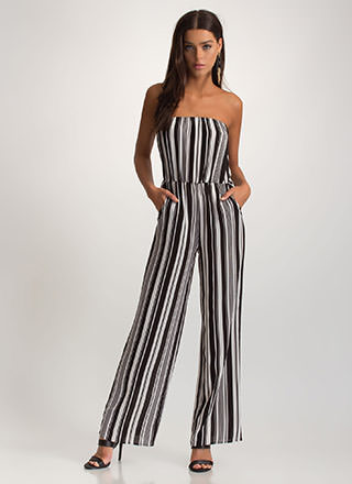 So Smitten Striped Palazzo Jumpsuit