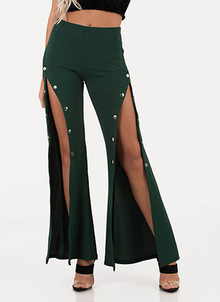 Sporty Chic Tearaway Flared Pants