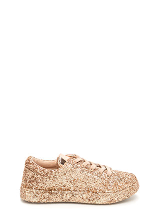 Sparkler Status Glitter Lace-Up Sneakers