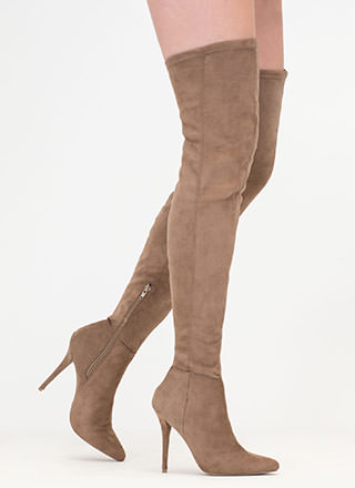 Fashion Forward Pointy Thigh-High Boots