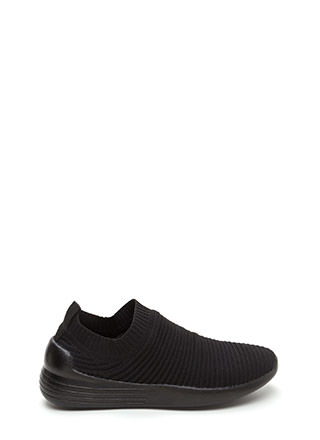 On The Go Textured Slip-On Sneakers