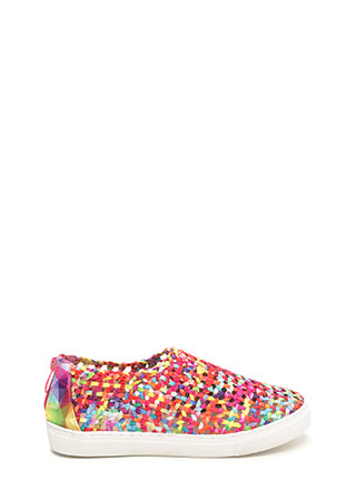 Weave A Message Rainbow Sneakers