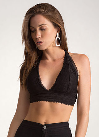 Lace The Game Caged Halter Top