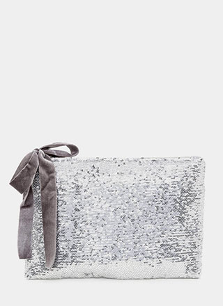 Light It Up Flat Sequined Clutch