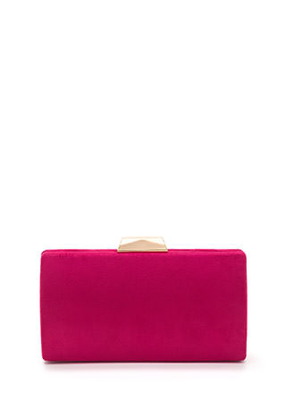 Simple 'N Chic Faux Suede Clutch