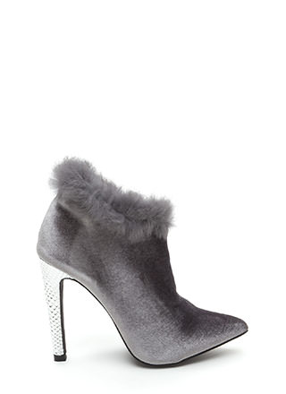 Animal Queen-dom Furry Scaled Booties