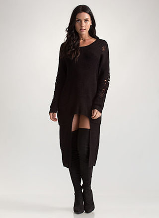 Cozy Comfort Chunky High-Low Sweater