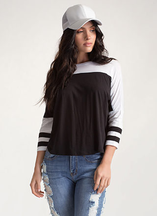 Everyday Pick Contrast Dolman Top