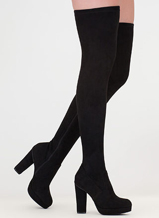 Easy Answer Platform Thigh-High Boots