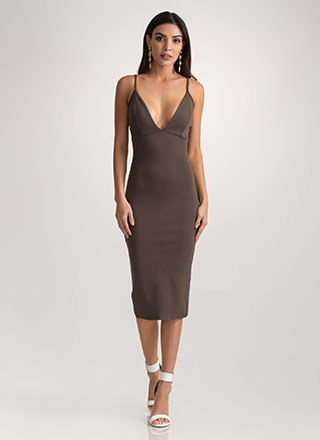 Evening Date Slit Midi Dress