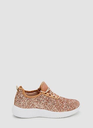 Sneak In The Sparkle Platform Sneakers