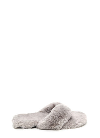 Soft Landing Faux Fur Thong Sandals