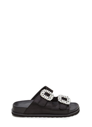 Fancy That Jeweled Slide Sandals