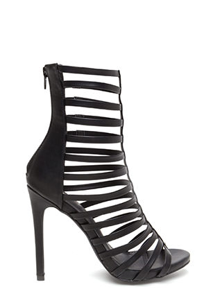 Up The Ladder Caged Gladiator Heels