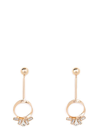 Ring It Dangling Jeweled Earrings