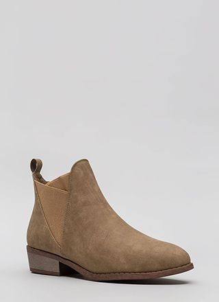 You've Been Band Faux Leather Booties