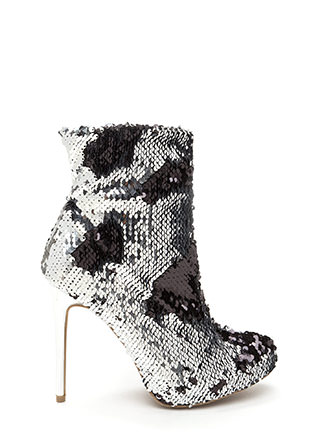 Love Is Blinding Sequined Booties