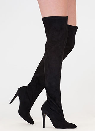 Oh Wide Not Pointy Thigh-High Boots