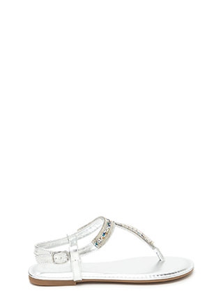 Festival Faves Jeweled T-Strap Sandals