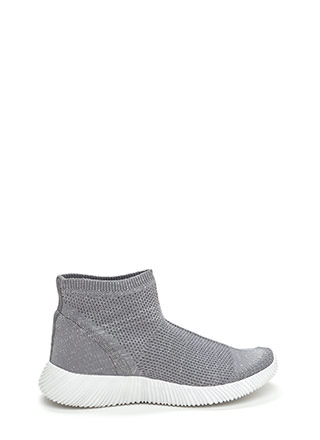 Running Start Glitzy Knit Sneakers