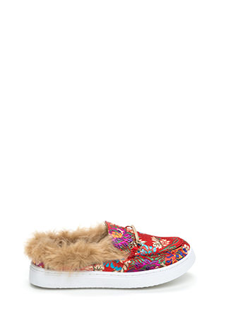 Flat Out Furry Embroidered Sneakers