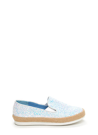 Glitz A Hit Braided Platform Sneakers