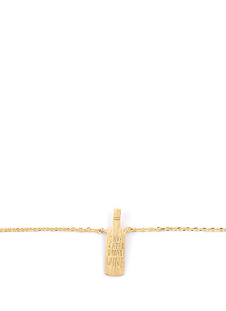Wine Not Dainty Charm Necklace