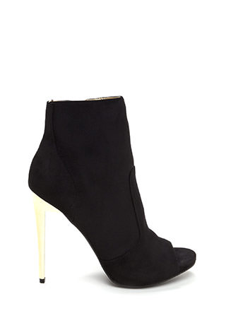 The Right Angle Faux Suede Booties