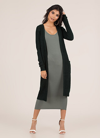 Cozy Day Chunky Knit Duster Cardigan