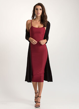 All Day Long Cami Bodycon Midi Dress