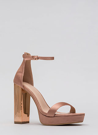 Pillar Queen Chunky Satin Platforms