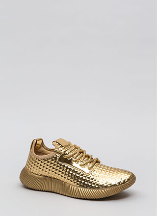 Another Dimension Metallic Sneakers