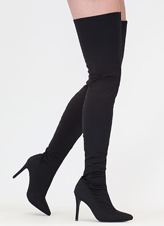 Simply Luxe Pointy Thigh-High Boots