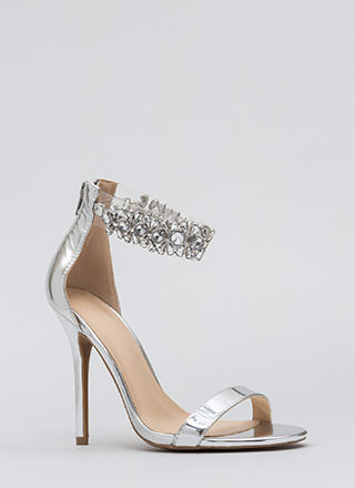 Dripping In Jewels Clear Strap Heels