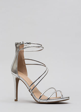 Double Or Nothing Skinny Strap Heels