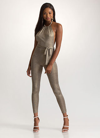 Haute Nights Out Metallic Jumpsuit