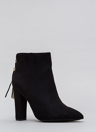 Walk Out Pointy Tassel Booties