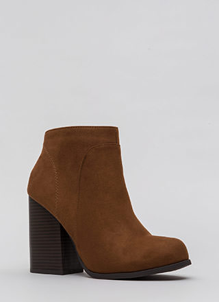 Block Collection Faux Suede Booties