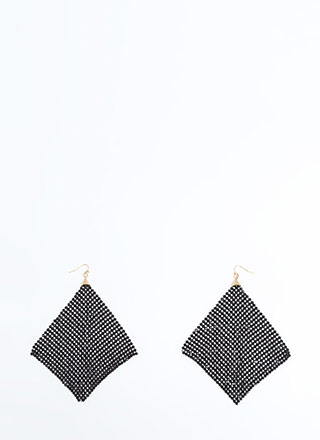 Square One Chainmail Earrings