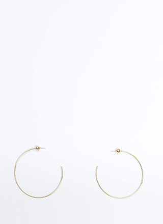 Let's C Oversized Partial Hoop Earrings