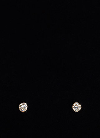 Sparkler Party Oval Stud Earrings
