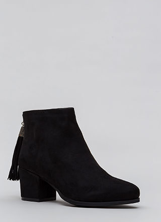 Double Time Chunky Tasseled Booties