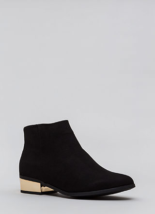 Shine Of The Times Faux Suede Booties