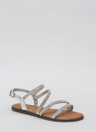 Four The Love Of Straps Jeweled Sandals