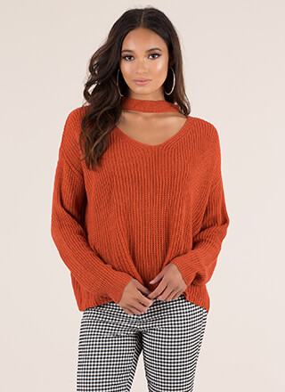 Band Leader Cut-Out Knit Sweater