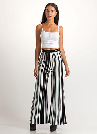 In Alignment Striped Palazzo Pants