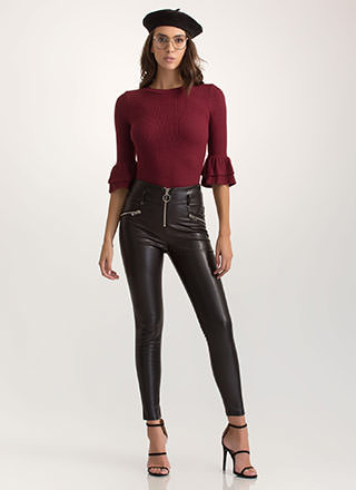 More Than Moto Faux Leather Pants
