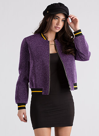 Glitz The Best Glittery Bomber Jacket