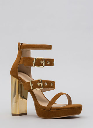 Pillar Instinct Chunky Strappy Platforms